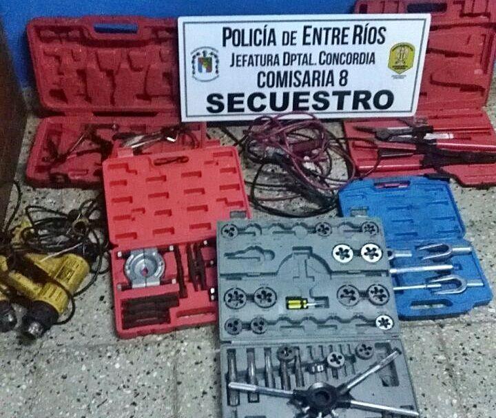 herramientas robadas