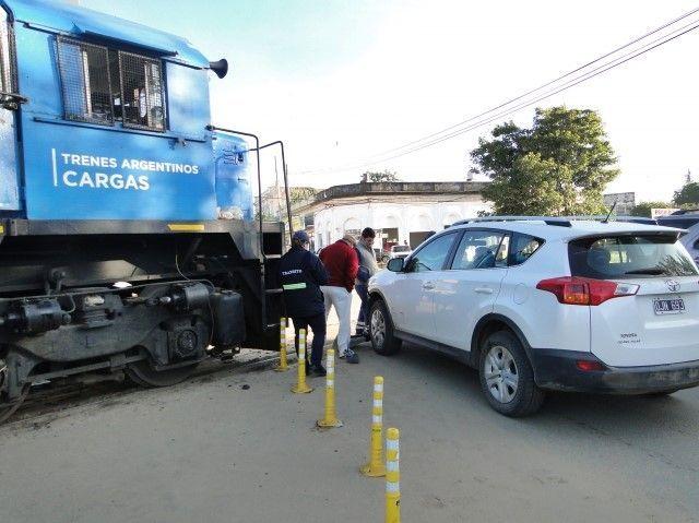Choque tren camioneta Chajarí