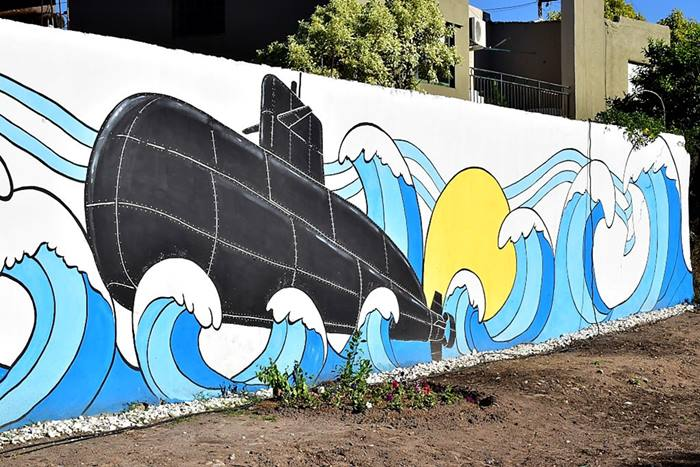 Mural homenaje ARA San Juan