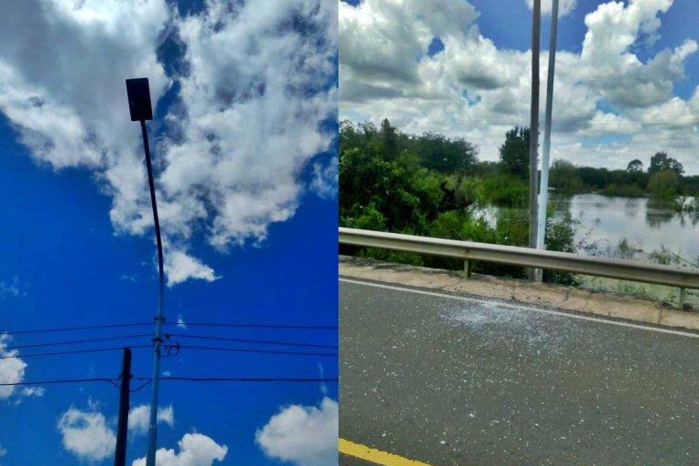 roturas puente alvear y frondizi